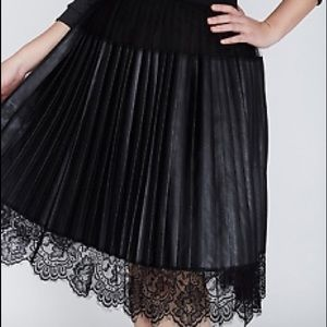 Lane Bryant pleated skirt